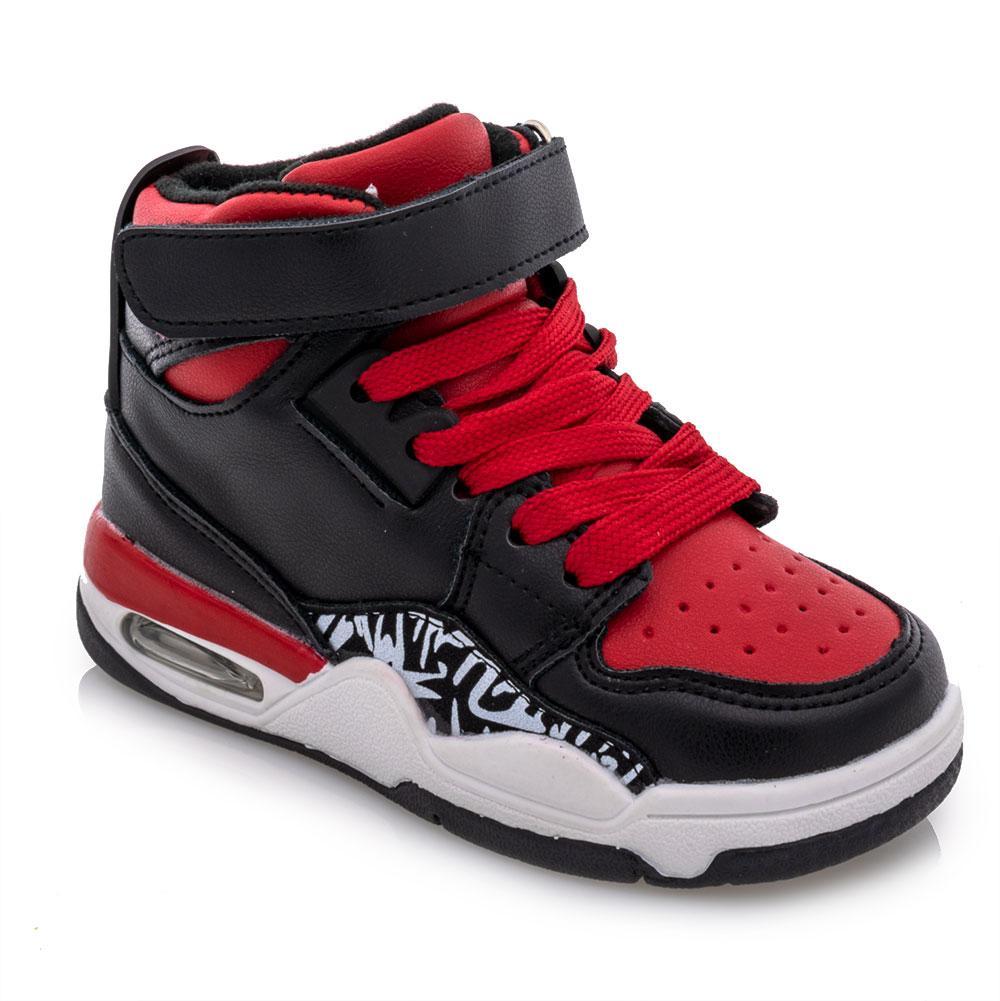 Ботинки для мальчиков Kimboo 26  черно-красные 981374