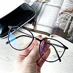 Имиджевые очки в черной оправе (антиблик), фото 6