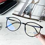 Имиджевые очки в черной оправе (антиблик), фото 8