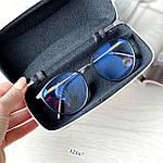 Имиджевые очки в черной оправе (антиблик), фото 7