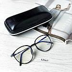 Имиджевые очки в черной оправе (антиблик), фото 9