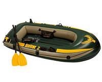 Надувная лодка Seahawk 2 Set, до 200 кг 236Х114Х41 см с веслами и насосом SKL11-249784