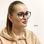 Имиджевые очки в черной оправе (антиблик), фото 3