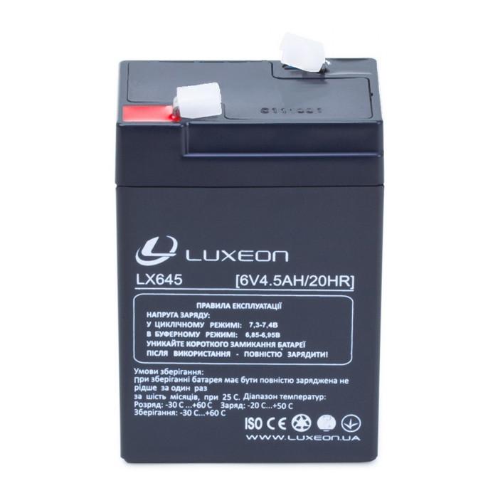 Аккумуляторная батарея 6V 4,5Ah AGM Luxeon