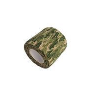 Камуфляжная клейкая лента, скотч хаки, 5см х 4.5м, лес, 103438