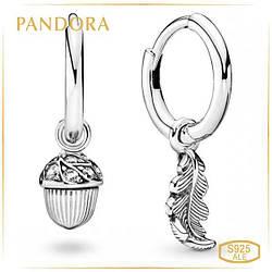 Пандора Серьги-кольца Дар богов Pandora 298603C01