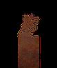 Надгробие из металла 50*81см*8мм. Мемориальная плита, памятник Детский 02