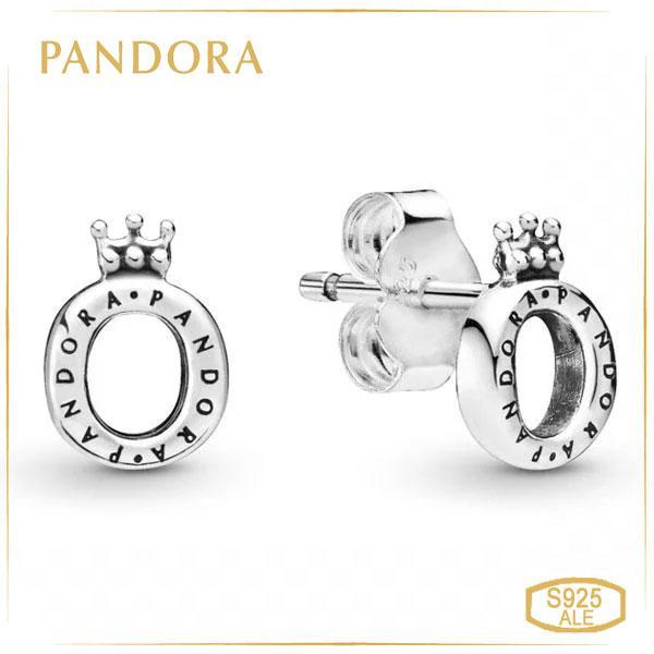 Пандора Серьги-пусеты Корона О Pandora 298295