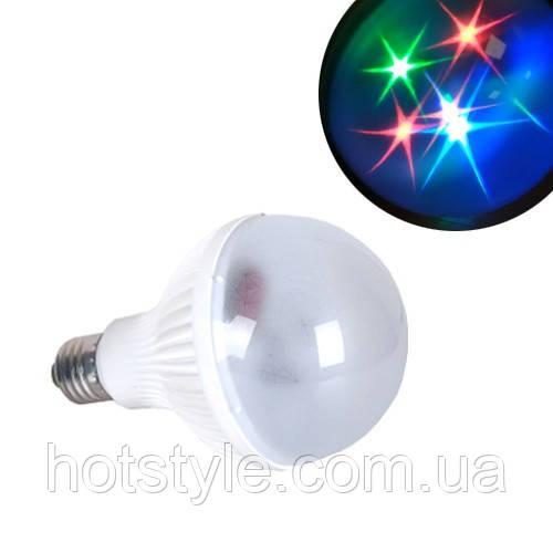 Лампа светодиодная декоративная Звезды E27 LED RGB, 104818