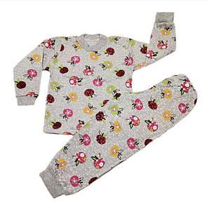 Дитяча тепла піжама для дівчинки кольорове начісування