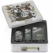 Набор Для Бороды Proraso Metal Box Beard Care Cypress & Vetyver Gift Set
