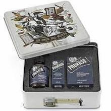 Набор Для Бороды Proraso Metal Box Beard Care Azur Lime Gift Set