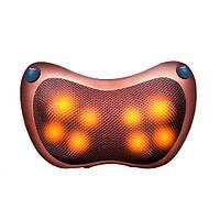 Массажная подушка автомобильная с ИК-подогревом, 3 режима, массажер Шиацу, 100025