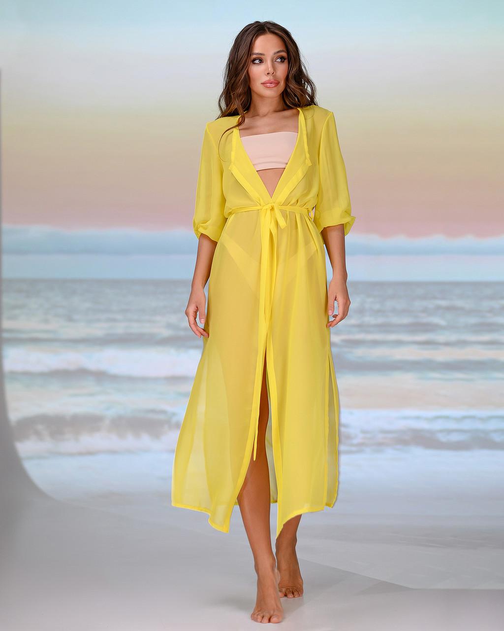 Довга пляжна туніка . Колір - помаранчевий . Розмір універсальний 42-48