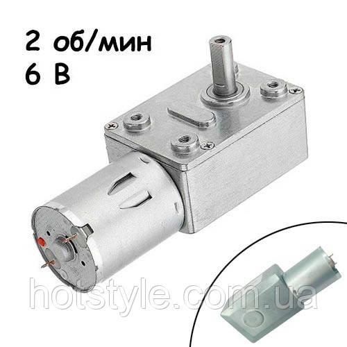 Мотор редуктор черв'ячний JGY-370 2 об/хв 6В, 102671