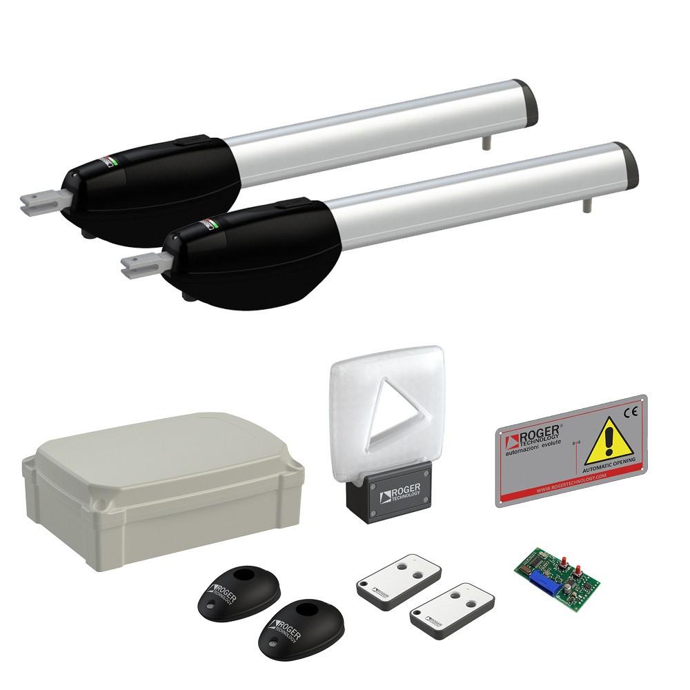 Автоматика для розпашних воріт Roger Technology KIT BE20/210 комплект maxi KIT BE20/212/HS «Brushless», High