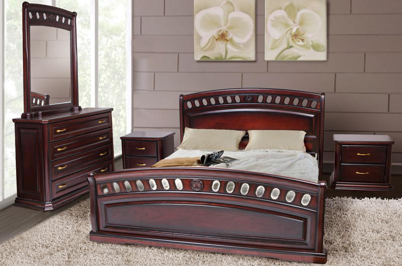 Кровать Флоренция каштан 1,8 (Микс-Мебель ТМ)