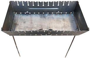 Мангал чемодан на 12 шампуров 2 уровня раскладной переносной