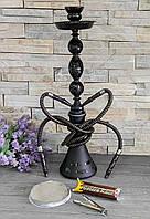 """Шикарний Кальян """"Mist"""" великий 55 см на 2 персони з вугіллям і фольгою"""
