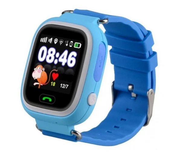 Розумні дитячі годинник Smart Baby Watch Q90 з GPS трекером, блакитні