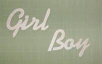Слово Girl заготовка для декора