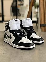Кросівки Nike Air Jordan 1 Retro Black Найк Аїр Джордан 1 Ретро Чорні (41,42,43,44,45) 42