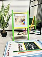 Детский развивающая деревянная игрушка детский мольберт двухсторонний магнитный