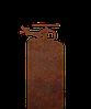 Надгробие из металла 30*81см*8мм. Мемориальная плита, памятник Детский 16