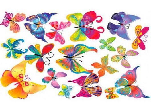Вафельная картинка Бабочки 12