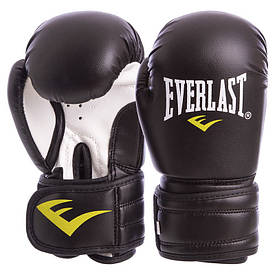 Рукавички боксерські, на липучці EVERLAST чорні MA-5018, 10 унцій