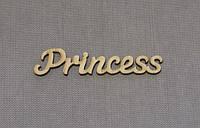 Слово Princess заготовка для декора