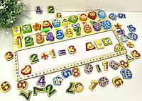 Подарок ребенку деревянная развивающая игрушка геометрика интерактивная доска