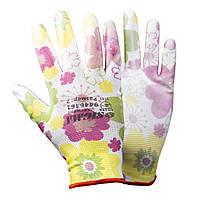 Перчатки с ПУ покрытием (белые манжет) SIGMA (9446361)