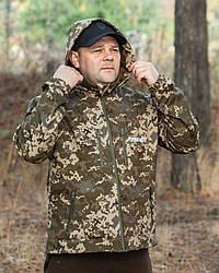 Куртка для рыбалки, куртка софтшелл пиксель,  куртка Soft-shell Fisher