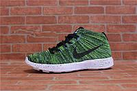 Женские кроссовки Nike Flyknit Lunar Chukka  green, фото 1
