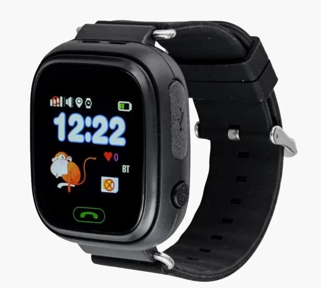 Розумні дитячі годинник Smart Baby Watch Q90 з GPS трекером, чорні