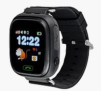 Розумні дитячі годинник Smart Baby Watch Q90 з GPS трекером, чорні, фото 1
