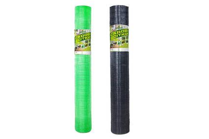 Сетка пластиковая Универсальная яч.12*14, рулон 2.0*100м черная, зеленая, сетка от крота