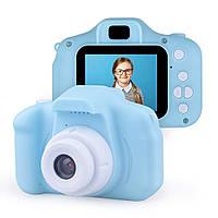 Детский цифровой фотоаппарат Smart Kids Cam, детская фото камера игрушка для мальчика, Синий