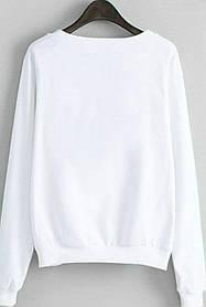 Стильный свитшот подростковый  трикотаж двухнитка Турция 98-164 для девочки белый