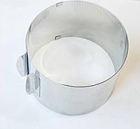 Кольцо кондитерское раздвижное для выпечки и сборки салатов высота 14 см