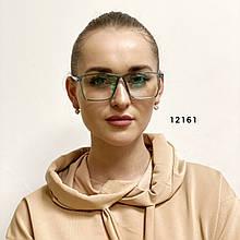 Имиджевые очки в зелёной оправе (антиблик)