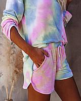 Женский костюм свитшот+шоры размеры 42-46,цвет разноцветный