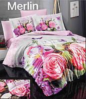 """ОРИГИНАЛ! ТУРЦИЯ! Комплект постельного белья ALTINBASAK Сатин 3D """"Merlin"""" Евро"""