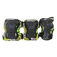 Комплект спортивной защиты для роликов Tempish FID KIDS 3 пар. чорний/M наколенники, налокотник, защита кистей