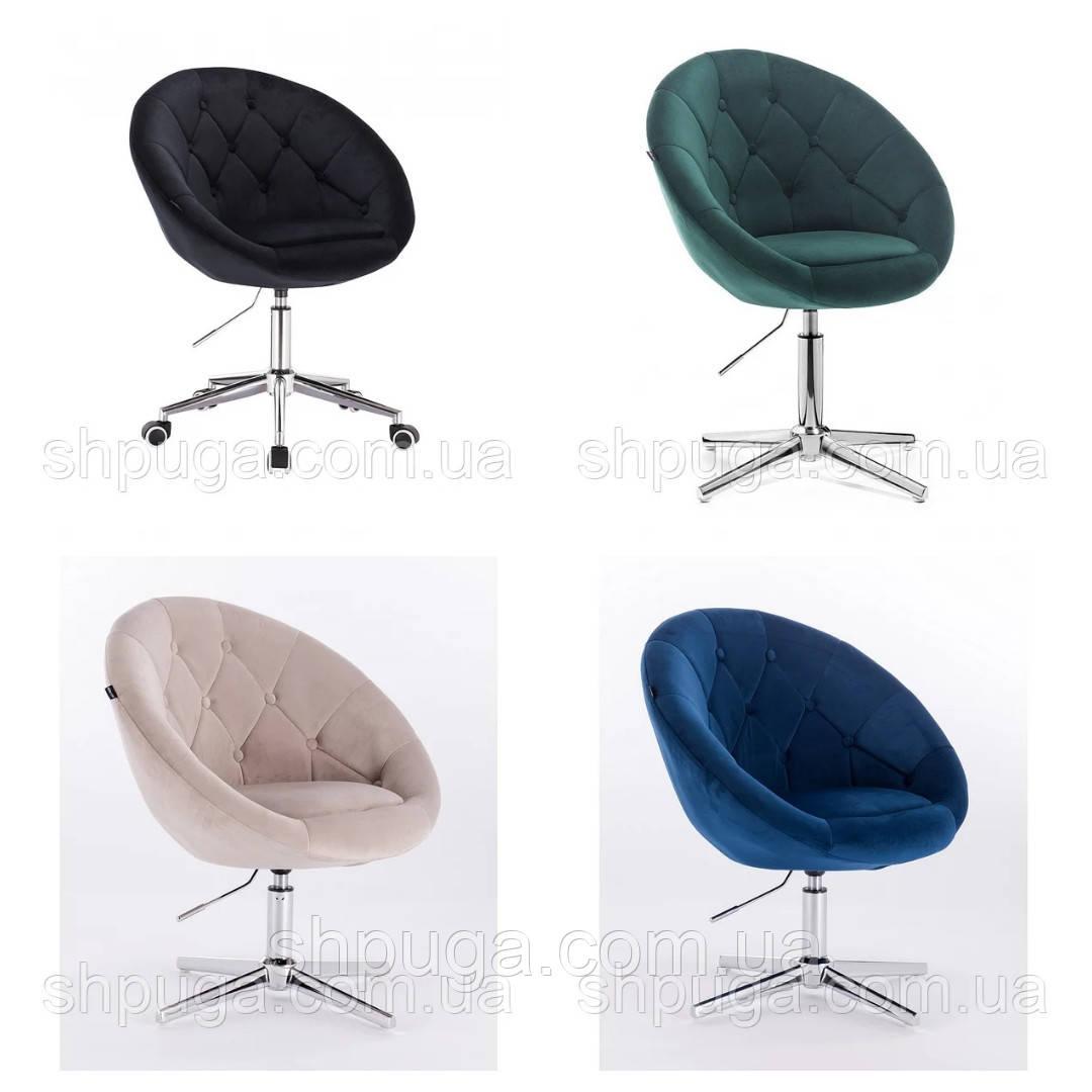 Кресло 8516  велюр цвет на выбор из каталога.