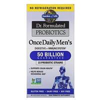 Пробиотики  для мужчин, Garden of Life, Dr. Formulated Probiotics,  50 миллиардов бактерий 30капс.