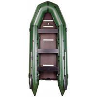 Надувная лодка из пвх Барк Bt-450s восьмиместная моторная килевая