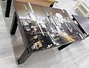 Стол трансформер Флай  венге магия со стеклом 04_465, журнальный обеденный, фото 3
