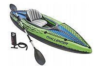 Туристическая надувная лодка-байдарка 68305 Intex CHALLENGER K1 KAYAK